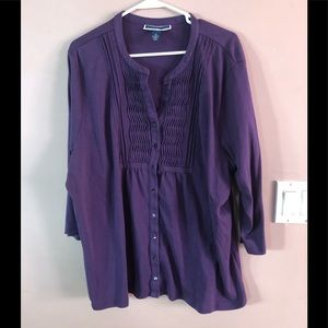 Karen Scott Plus Size Purple Top!!